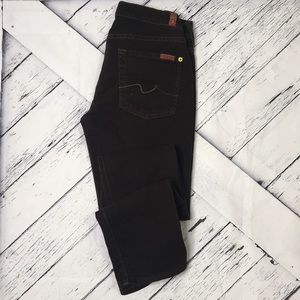 7 FOR ALL MANKIND Roxanne Brown Straight Leg Pants